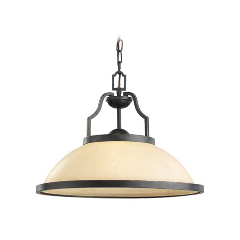 Nautical Pendant Light With Beige Cream Glass In Bronze Nautical Lights