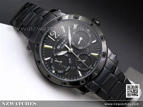 Casio Sheen She 3805b 1a Black buy casio sheen rhinestones studded all black