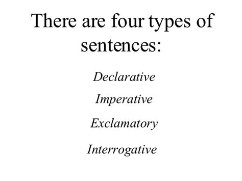 the simple secrets of sentence variety four types of sentences
