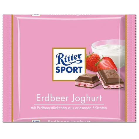 ritter sport tafel ritter sport erdbeer joghurt schokolade 5 tafeln