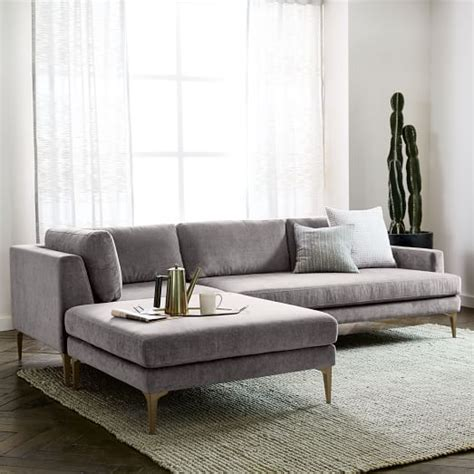 3 piece chaise sectional andes 3 piece chaise sectional west elm