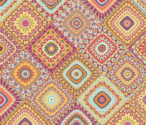 Photo Quilt Fabric by S Millefiori Cheater Quilt Fabric Groovity