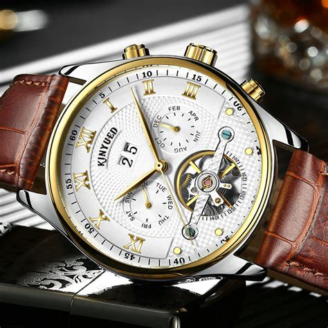 Ouyawei Skeleton Leather Automatic Mechanical Oyw1218 Wh automatic mechanical watches promotion shop for
