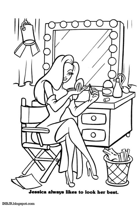 imnotbad com a jessica rabbit site coloring book