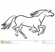 Horse Vector Outline Stock Images  Image 35400174