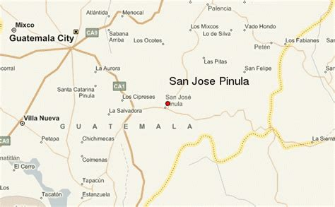 san jose guatemala map san jose pinula location guide