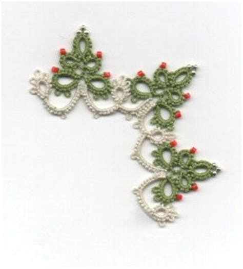 christmas tree tatting pattern christmas tree edging with corner tatting pattern