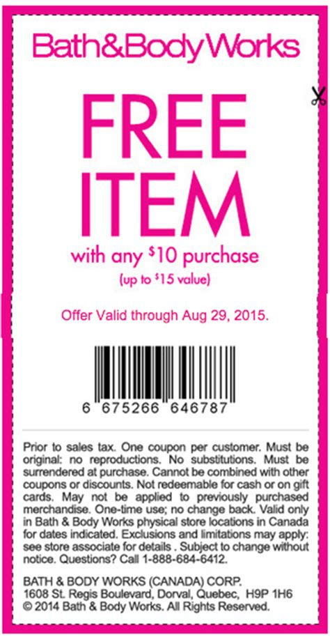 bed body works coupon bath body works canada coupons deals get free item