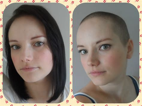 head shave before and after mrs bonzai charity head shave one woman s experience