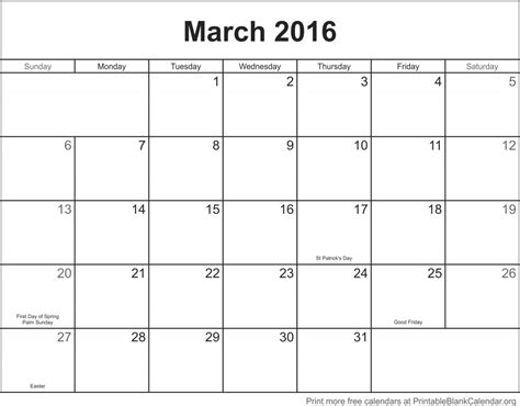 printable planner for march 2016 march 2016 printable calendar printable blank calendar org