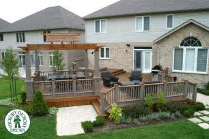 Ground Level Deck With Pergola by Deck Gallery
