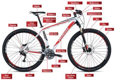 the anatomy of a mountain bike cool biking zone anatomy of a mountain bike cycly fanatical pinterest