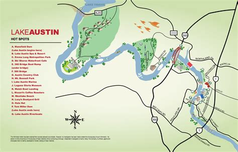 map of lake travis texas lake
