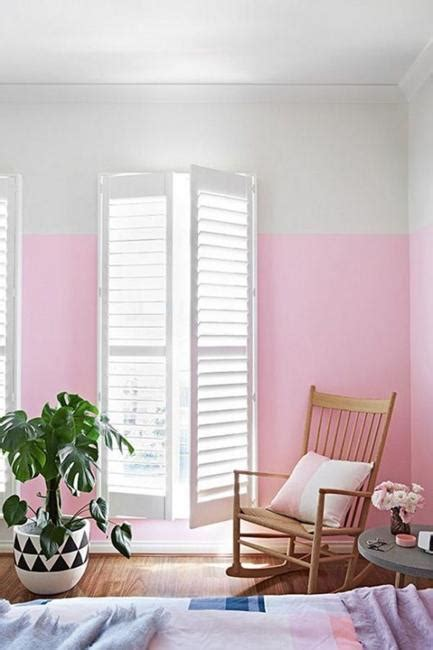pink colour bedroom decoration two color wall painting ideas for beautiful bedroom decorating