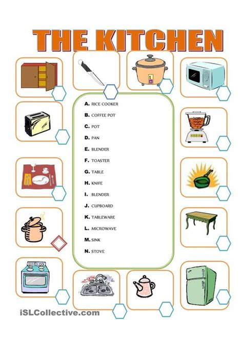 upholstery terms phrases furniture in the kitchen english for children
