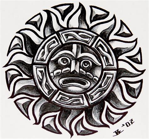 tribal aztec tattoo designs aztec images designs