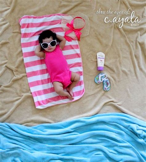 simple ideas for summer baby creative baby photo shoot ideas