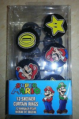 mario shower curtain nintendo super mario shower curtain hooks kids bathroom