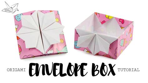 Origami Pop Up - origami pop up box envelope tutorial diy paper