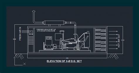 diesel generator  autocad cad   kb