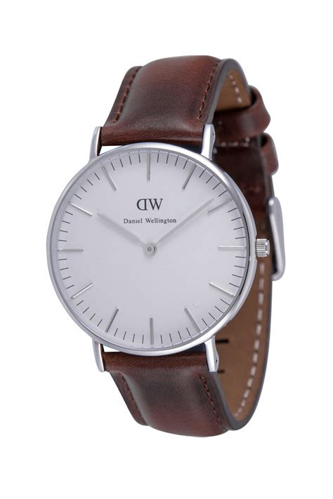 Daniel Wellington Ori Bm Silver Brown Leather daniel wellington 0607dw watches daniel wellington classic st watches at bodying my