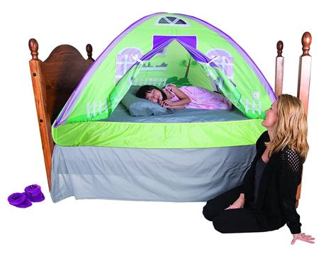 twin bed tent canopy amazon com pacific play tents cottage bed tent twin 19600 toys games