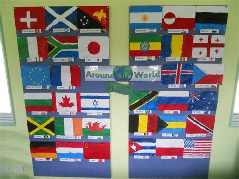 flags of the world display flags around the world classroom display photo