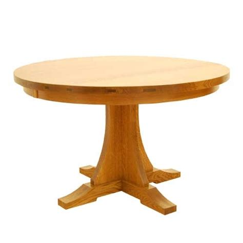 dining table round craftsman dining table