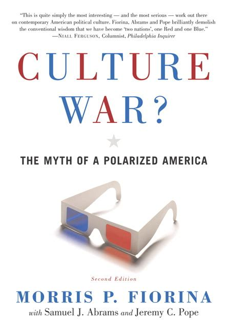 polarized light third edition books fiorina abrams pope culture war the myth of a