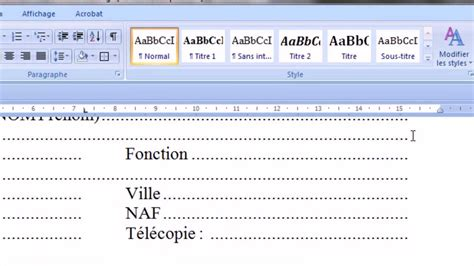 Sample Word Document Resume by Les Tabulations Dans Un Document Youtube