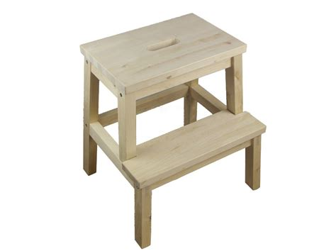 solid wood portable foot stool wooden folding step stool