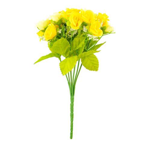 Artificial Flowers For Garden 21pcs Artificial Flower Silk Flower Arrangement Wedding Home Garden Ebay