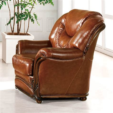 brown classic italian leather living room chair prime
