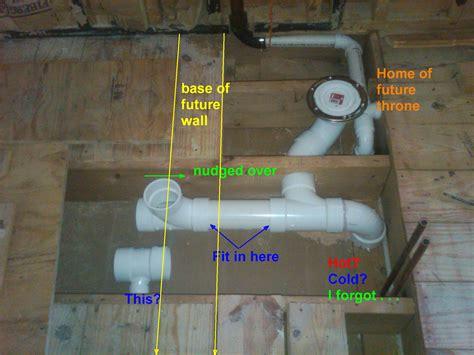 moving plumbing in bathroom renovating something still altering habits