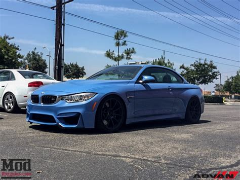 Advan M4 Snap Yas Marina Blue Bmw M4 Cabriolet On Advan