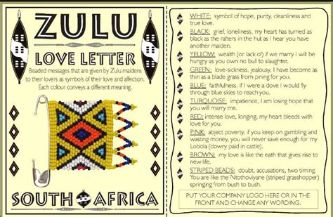 Zulu Business Letter image result for beautiful zulu words craft business and