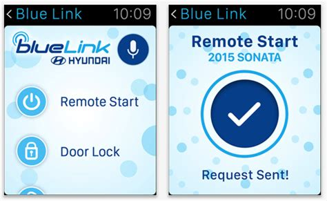 hyundai blue link remote start you can now remotely start your hyundai with an apple