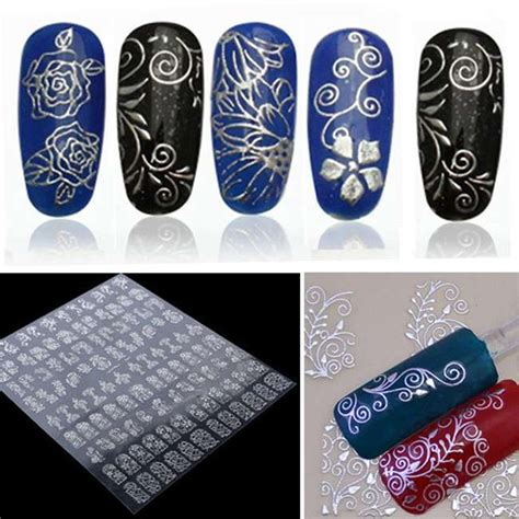 Sticker Water Decal Ble2335 1pcs 3d nail stickers water decals metallic stickers for nails mix designs flowers nail tips