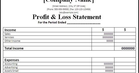 professional freelance content profit  loss statements