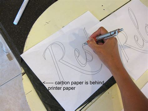 Make Carbon Paper - my pink sign tutorial how to make a wood sign