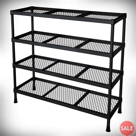metal garage shelving metal shelving unit wire garage office storage organization 4 shelf open rack ebay