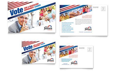 political caign postcard template design