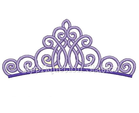 Embroidery Design Crown | fancy tiara crown machine embroidery design by