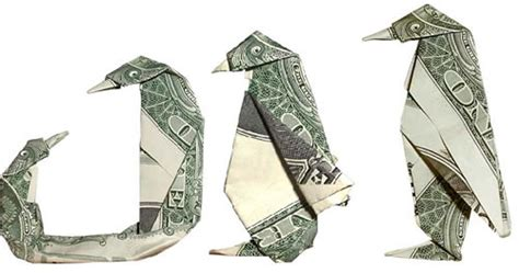 Money Origami Penguin - folding money the of origami meets dollar bills ii