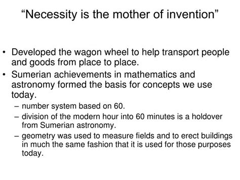 Necessity Is The Of Invention Essay by Ppt Early River Valley Civilizations Powerpoint Presentation Id 5845380