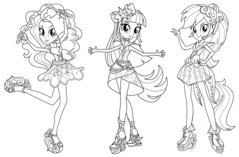 Equestria Coloring Pages Snap Cara Org My Pony Equestria Rainbow Rocks Coloring Pages Printable