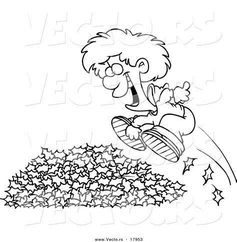 leaf pile coloring page jumping in fall leaves coloring pages coloring page for