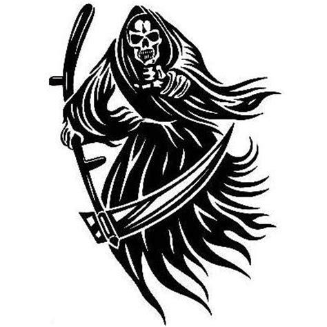 reaper tribal tattoo grim reaper drawings tribal clipart best