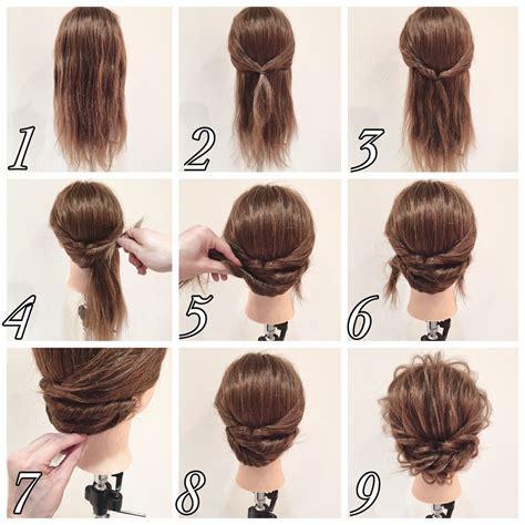 hairstyles for short hair how to セルフで簡単ヘアアレンジ 成人式の二次会にオススメしたい髪型4選 hair