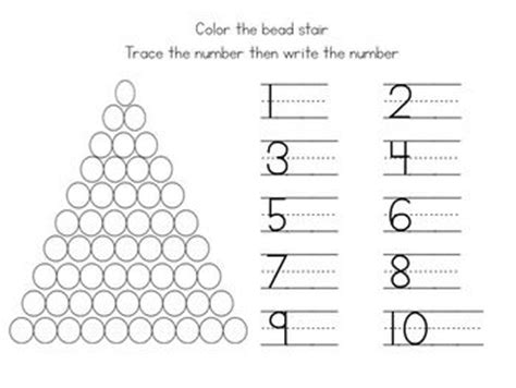 bead stair worksheets from montessori for everyone 291 best images about montessori math on pinterest